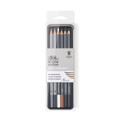 Winsor & Newton Studio Collection Sketching Pencil Set of 6